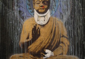 Banksy's Beat Up Buddha